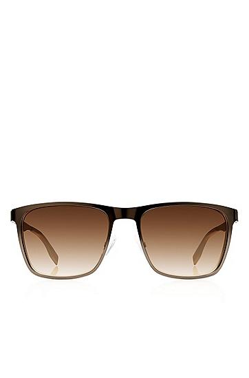 'Sunglasses' | Dark Ruthenium Flat Metal Sunglasses, Assorted-Pre-Pack