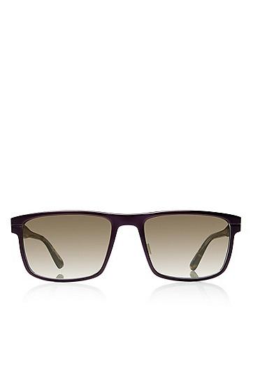 'Sunglasses' | Brown Aluminum-Trimmed Sunglasses, Assorted-Pre-Pack