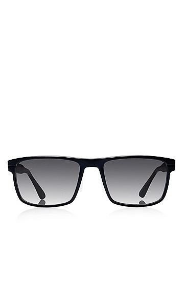 'Sunglasses' | Matte Black Aluminum-Trimmed Sunglasses, Assorted-Pre-Pack