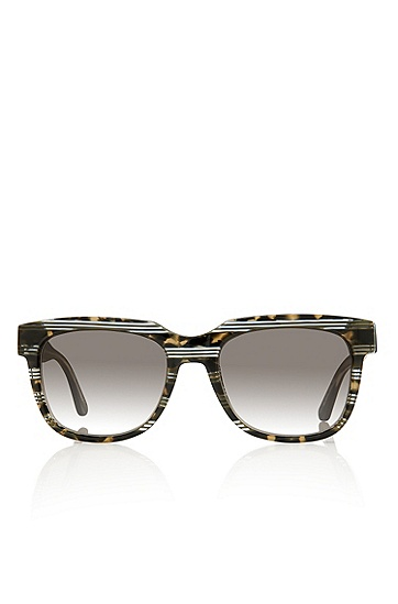 'Sunglasses' | Dark Havana Squared Acetate Sunglasses, Assorted-Pre-Pack