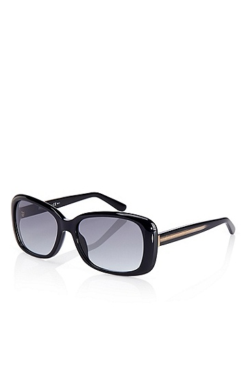 'Sunglasses' | Black Crystal Rounded Sunglasses, Assorted-Pre-Pack
