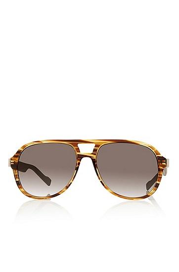 'Sunglasses' | Brown Double Bridge Aviator Sunglasses, Assorted-Pre-Pack