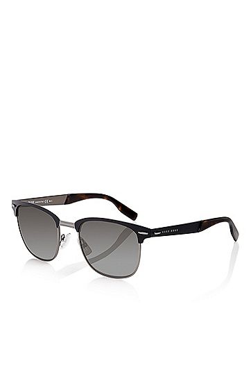 'Sunglasses' | Matte Black Semi-Rimless Sunglasses, Assorted-Pre-Pack