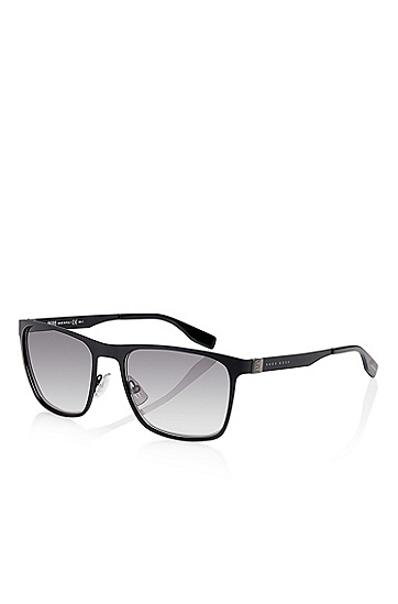 'Sunglasses' | Matte Black Flat Metal Sunglasses, Assorted-Pre-Pack