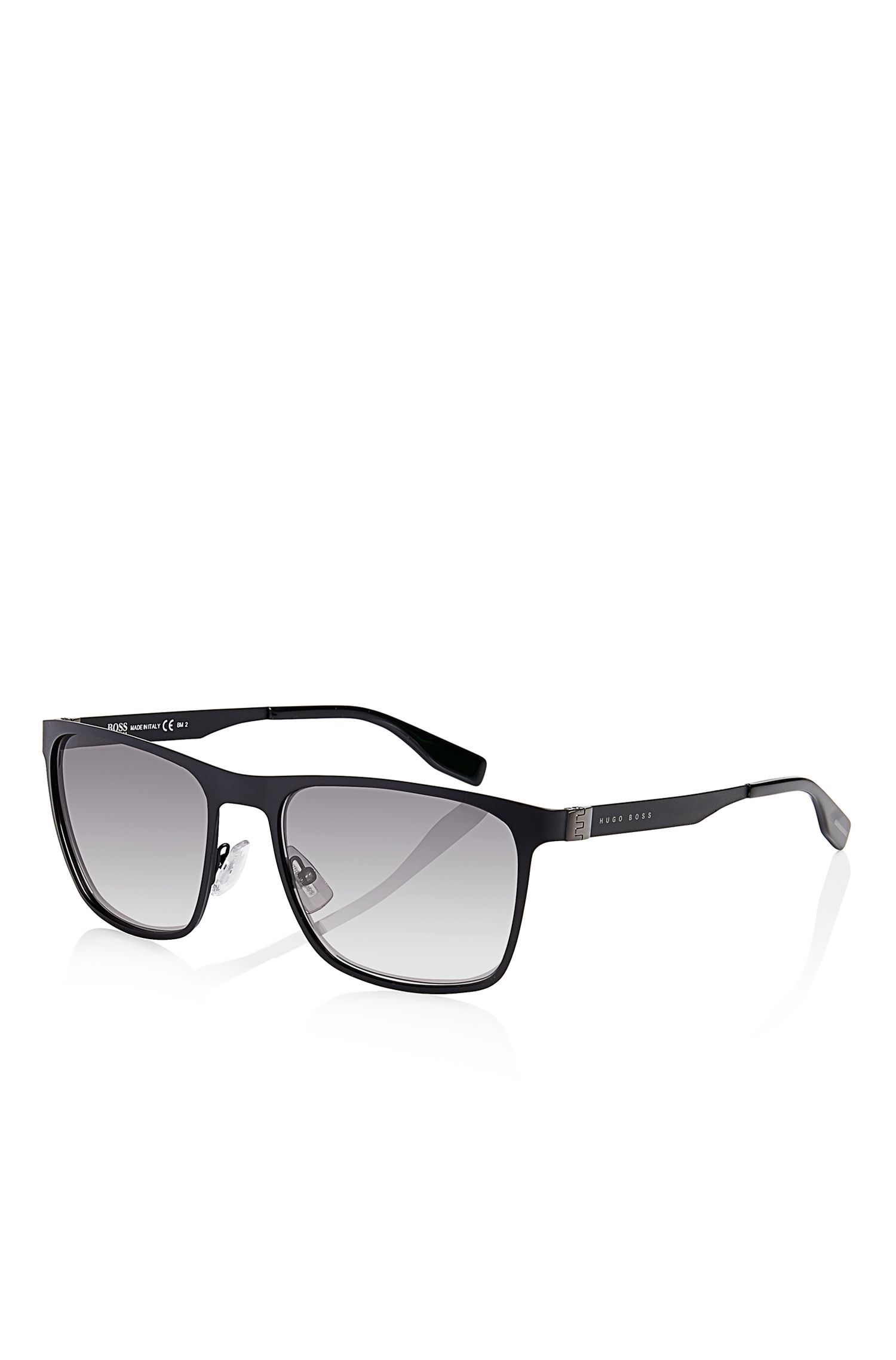 'Sunglasses' | Matte Black Flat Metal Sunglasses
