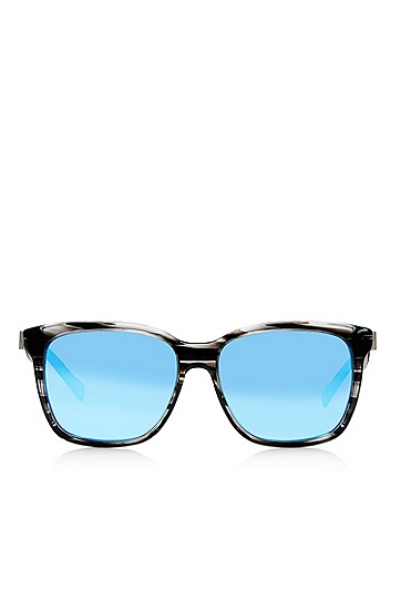 'Sunglasses' | Grey Rectangular Sunglasses, Assorted-Pre-Pack