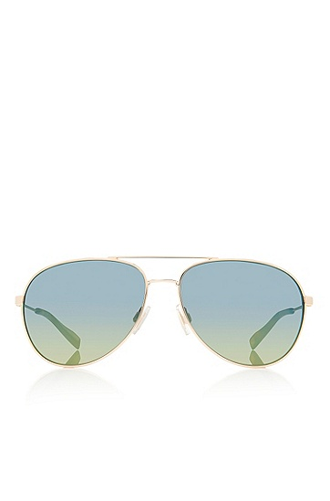 'Sunglasses' | Gold Metal Aviator Sunglasses, Assorted-Pre-Pack