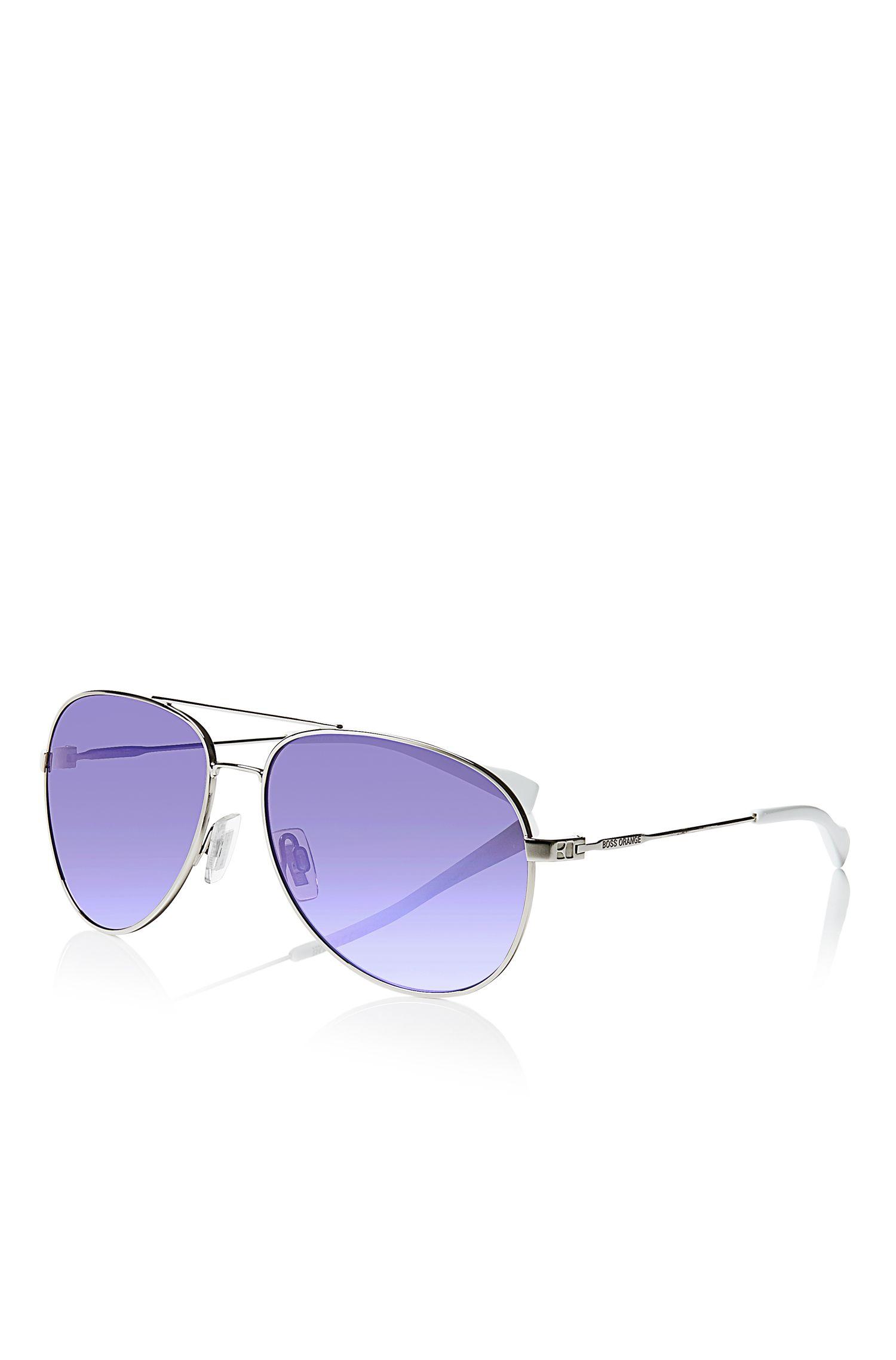 'Sunglasses' | Silver Metal Aviator Sunglasses