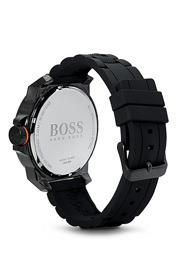 '1513004' | Black Silicon Strap Watch, Assorted-Pre-Pack