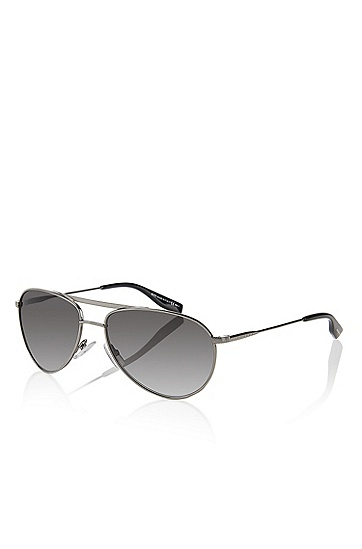 'Sunglasses' | Dark Ruthenium Aviator Sunglasses, Assorted-Pre-Pack