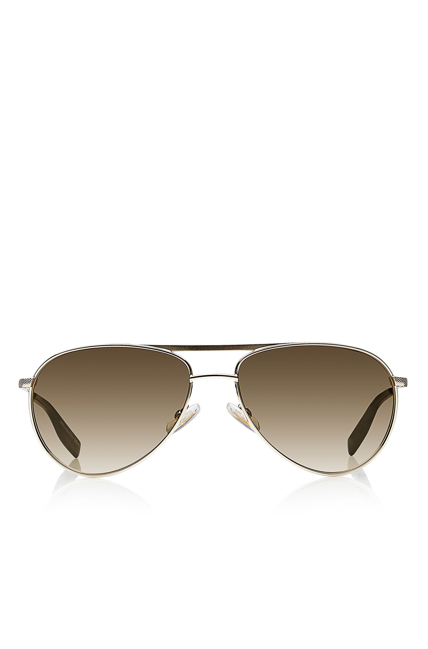 'Sunglasses' | Gold Matte Aviator Sunglasses