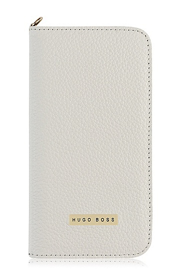 'Gracious S4' | Leather Samsung Galaxy S4 Booklet Case, White