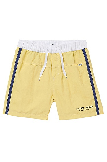 'J04138' | Toddler Quick Dry Board Shorts, Yellow