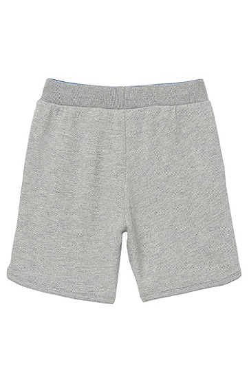 'J04142' | Toddler Cotton Piqué Fleece Sweat Shorts, Grey