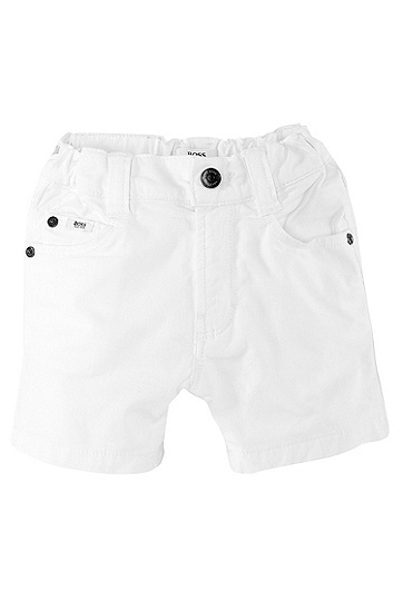 'J04143' | Toddler Cotton Twill Bermuda Shorts, White