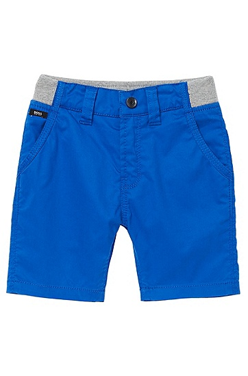 'J04146' | Toddler Cotton Twill Bermuda Shorts, Blue
