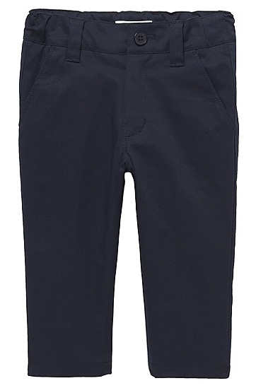 'J04154' | Toddler Cotton Twill Suit Pants, Dark Blue