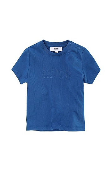 'J05277' | Toddler Cotton Jersey Tonal Logo Print T-Shirt, Blue