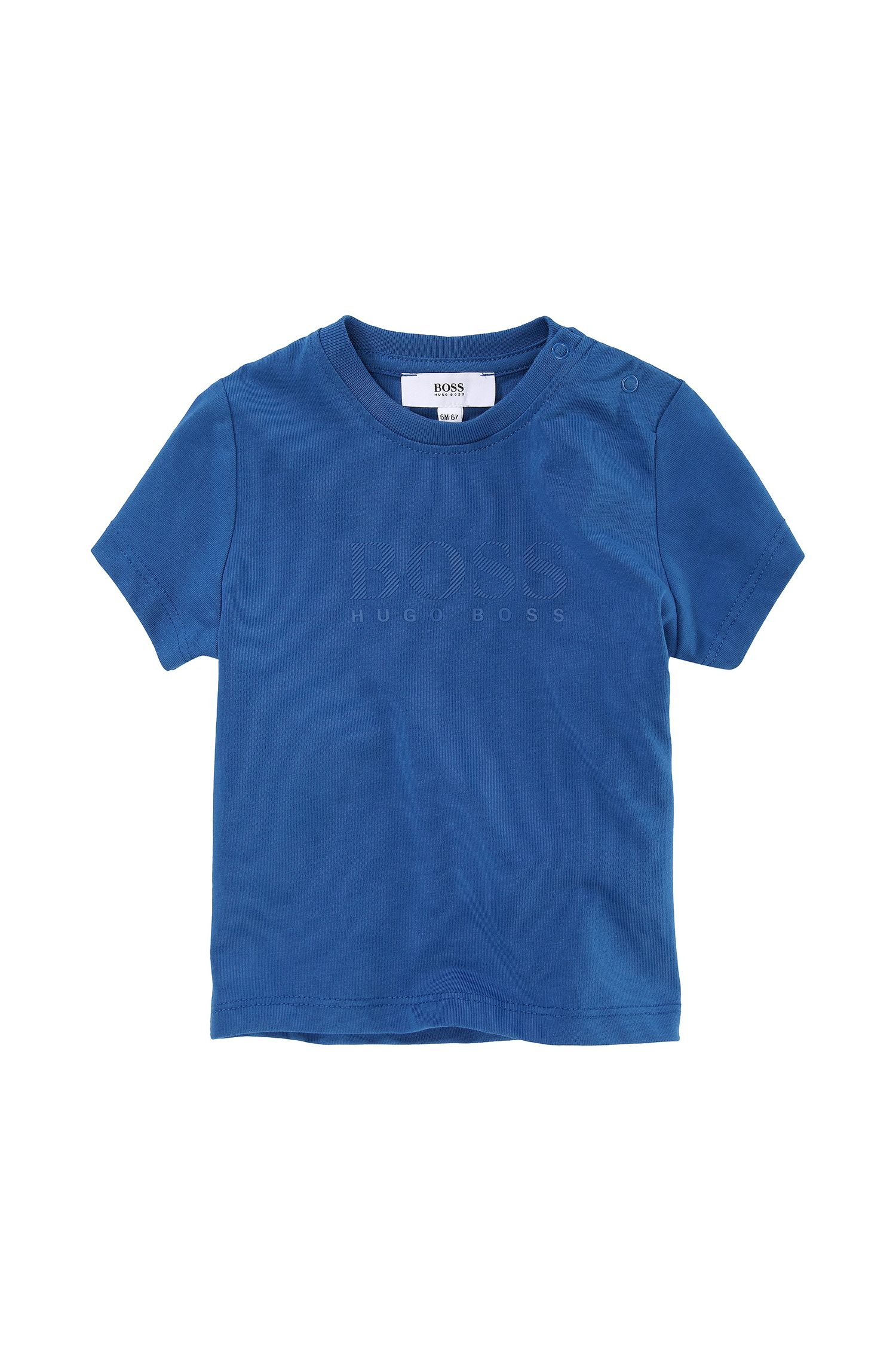 'J05277' | Toddler Cotton Jersey Tonal Logo Print T-Shirt
