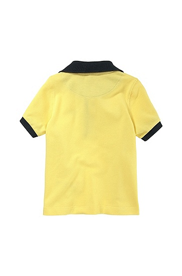 'J05285' | Toddler Cotton Piqué Polo Shirt, Yellow