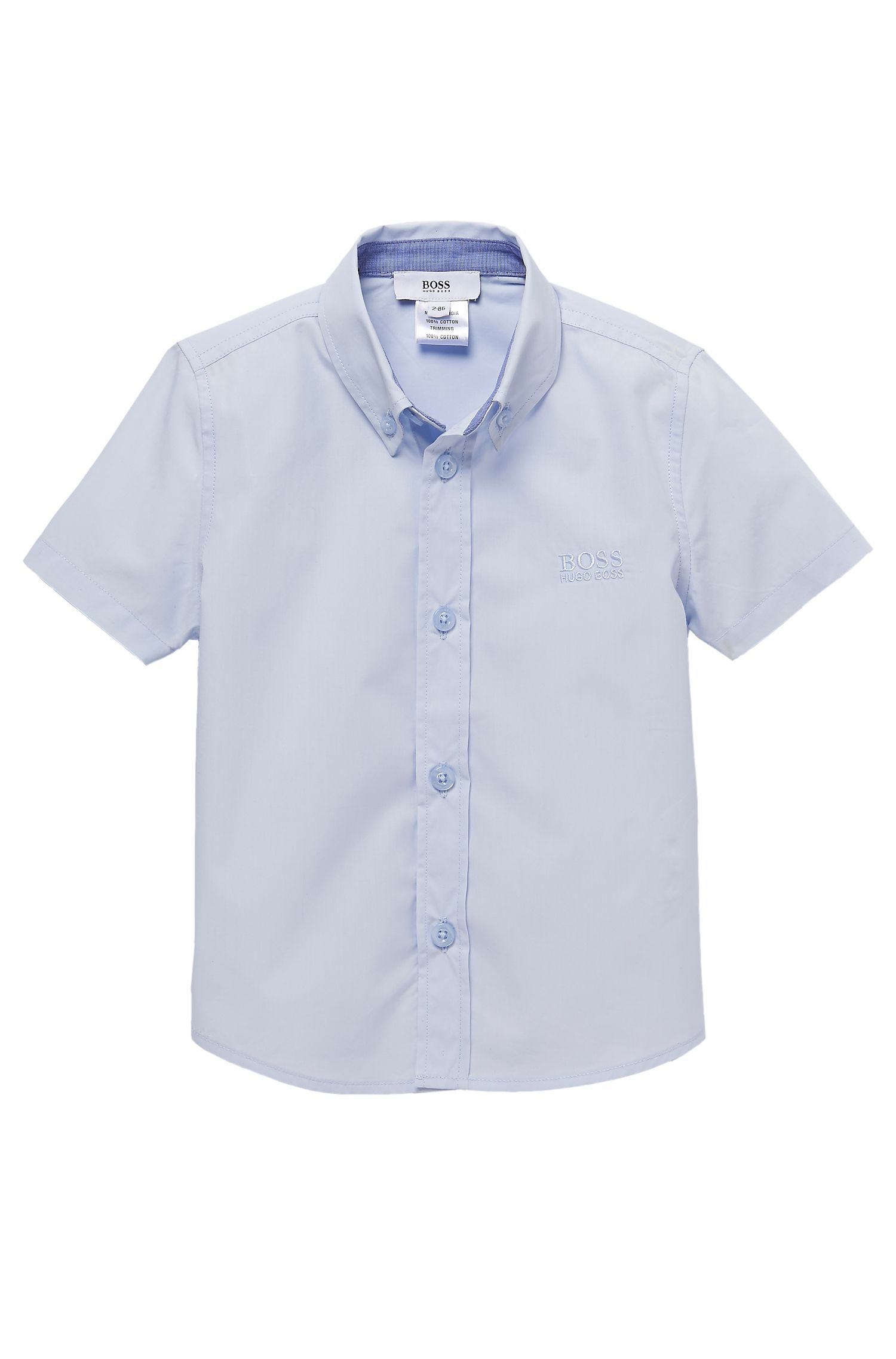 'J05290' | Toddler Cotton Short-Sleeved Button Down Shirt
