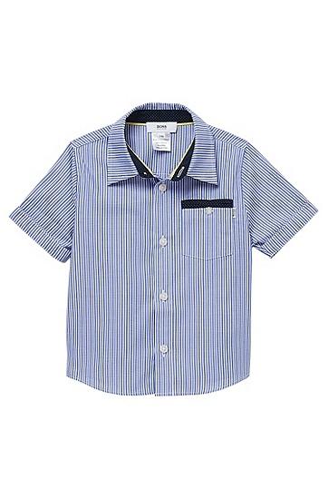 'J05291'   Toddler Cotton Short-Sleeve Stripe Shirt, Blue