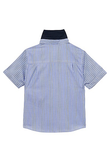 'J05291' | Toddler Cotton Short-Sleeve Stripe Shirt, Blue
