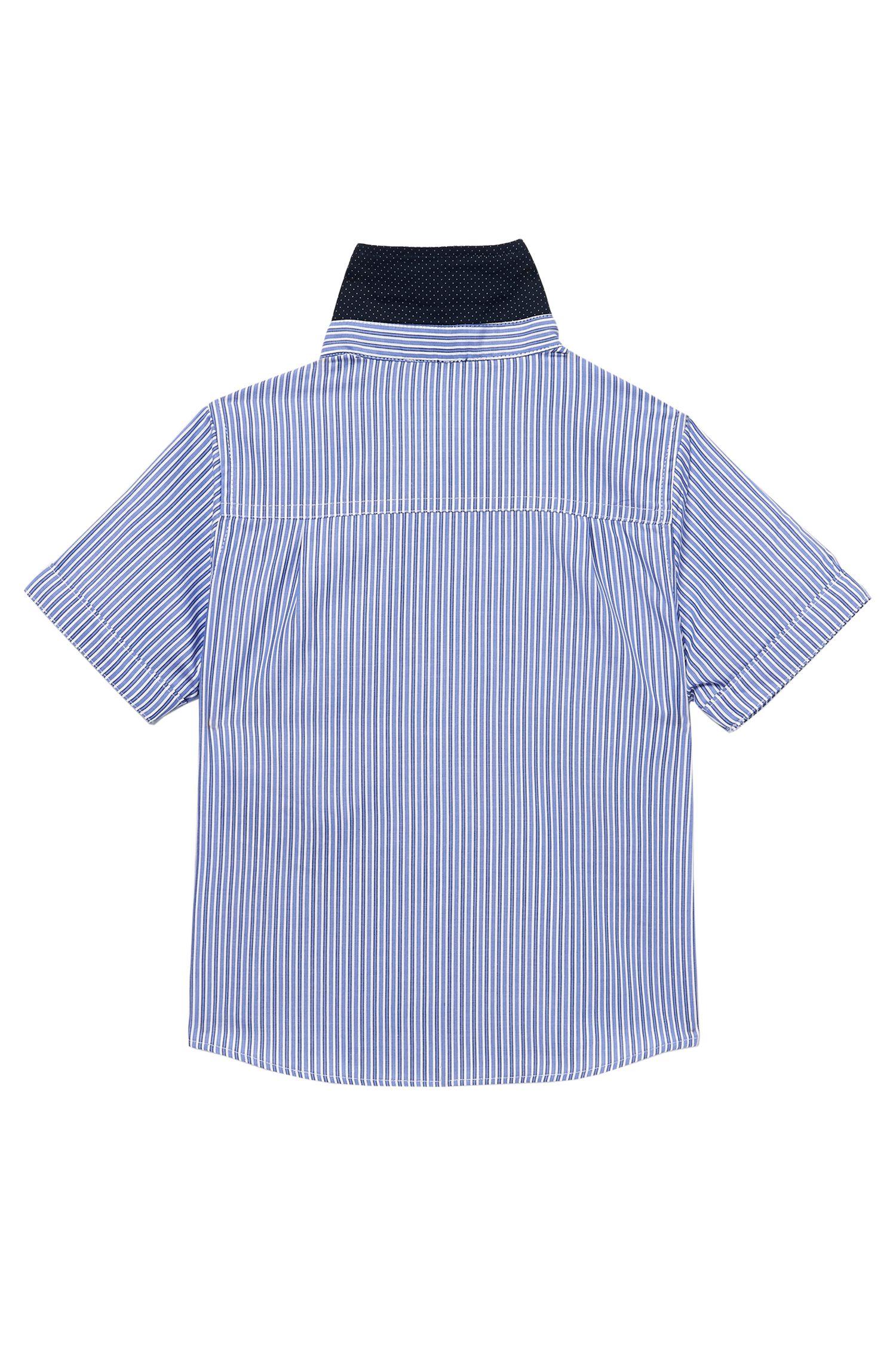 'J05291' | Toddler Cotton Short-Sleeve Stripe Shirt