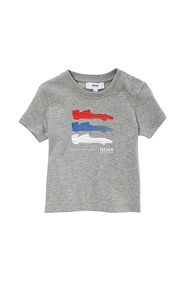 'J05303' | Toddler Cotton Jersey Graphic Print T-Shirt, Grey