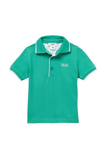 'J05305' | Toddler Cotton Piqué Polo Shirt, Green