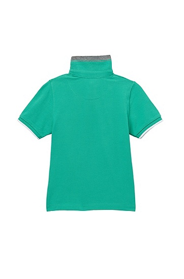 'J05305' | Toddler Cotton Piqué Polo Shirt, Green