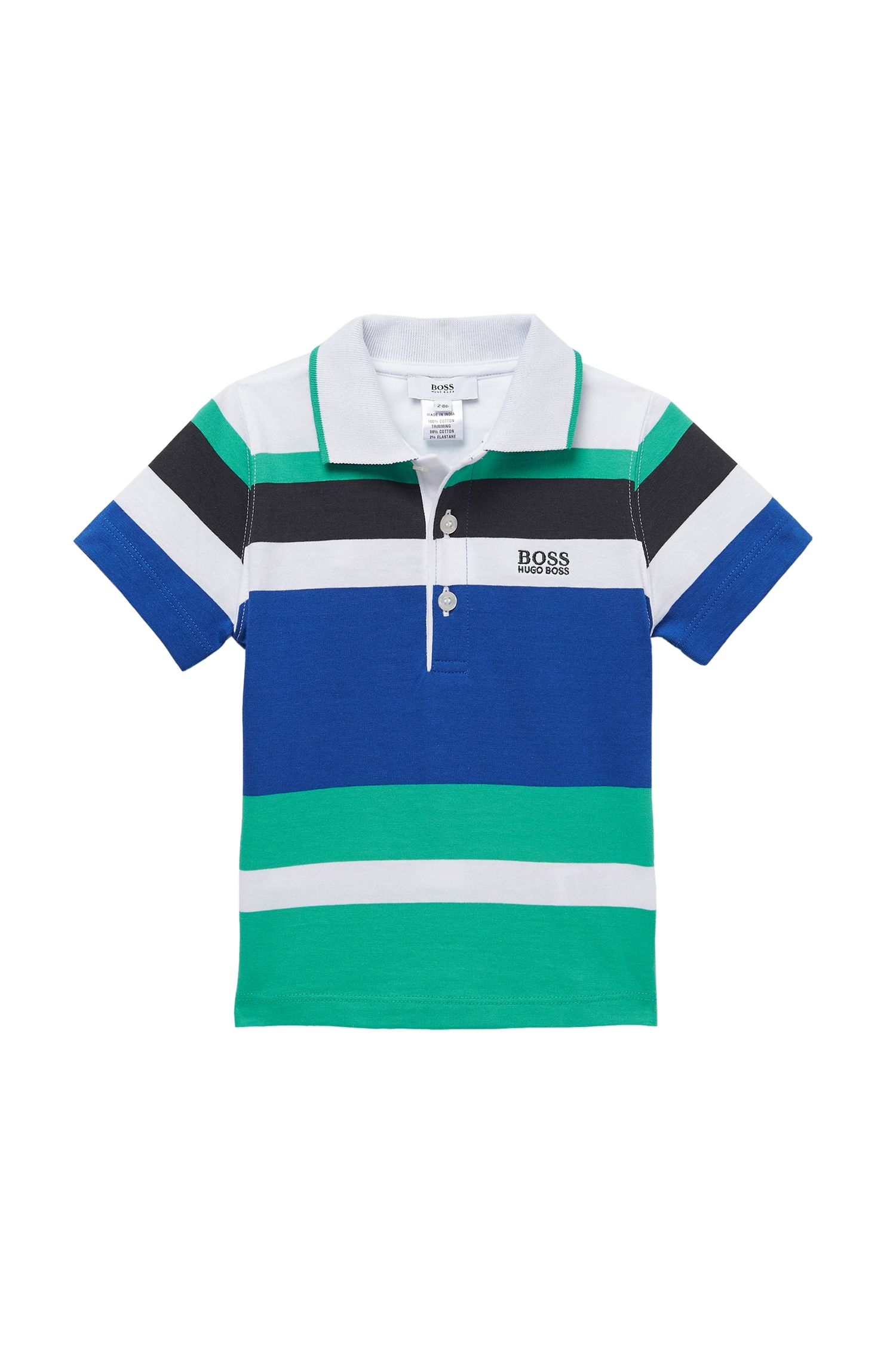 'J05306' | Toddler Cotton Jersey Stripe Polo Shirt