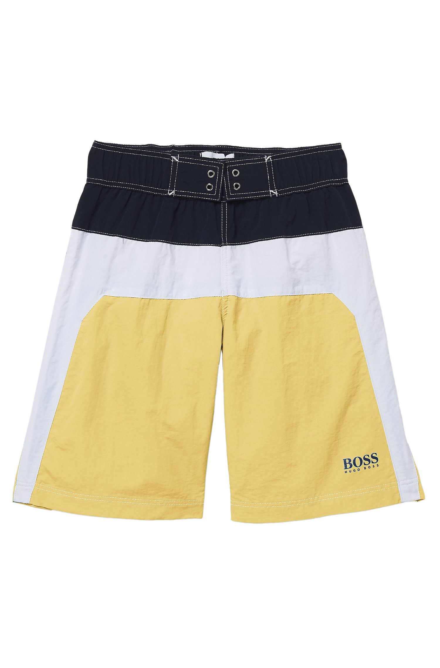 'J24269' | Boys Quick Dry Logo Swim Shorts