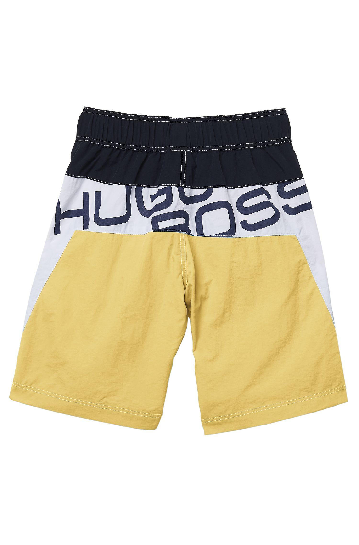'J24269' | Boys Quick Dry Logo Swim Shorts