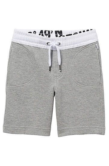'J24272' | Boys Fleece Sweat Shorts, Grey