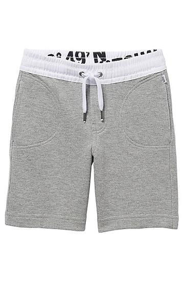 'J24272' | Boys Fleece Sweat Shorts, Grey