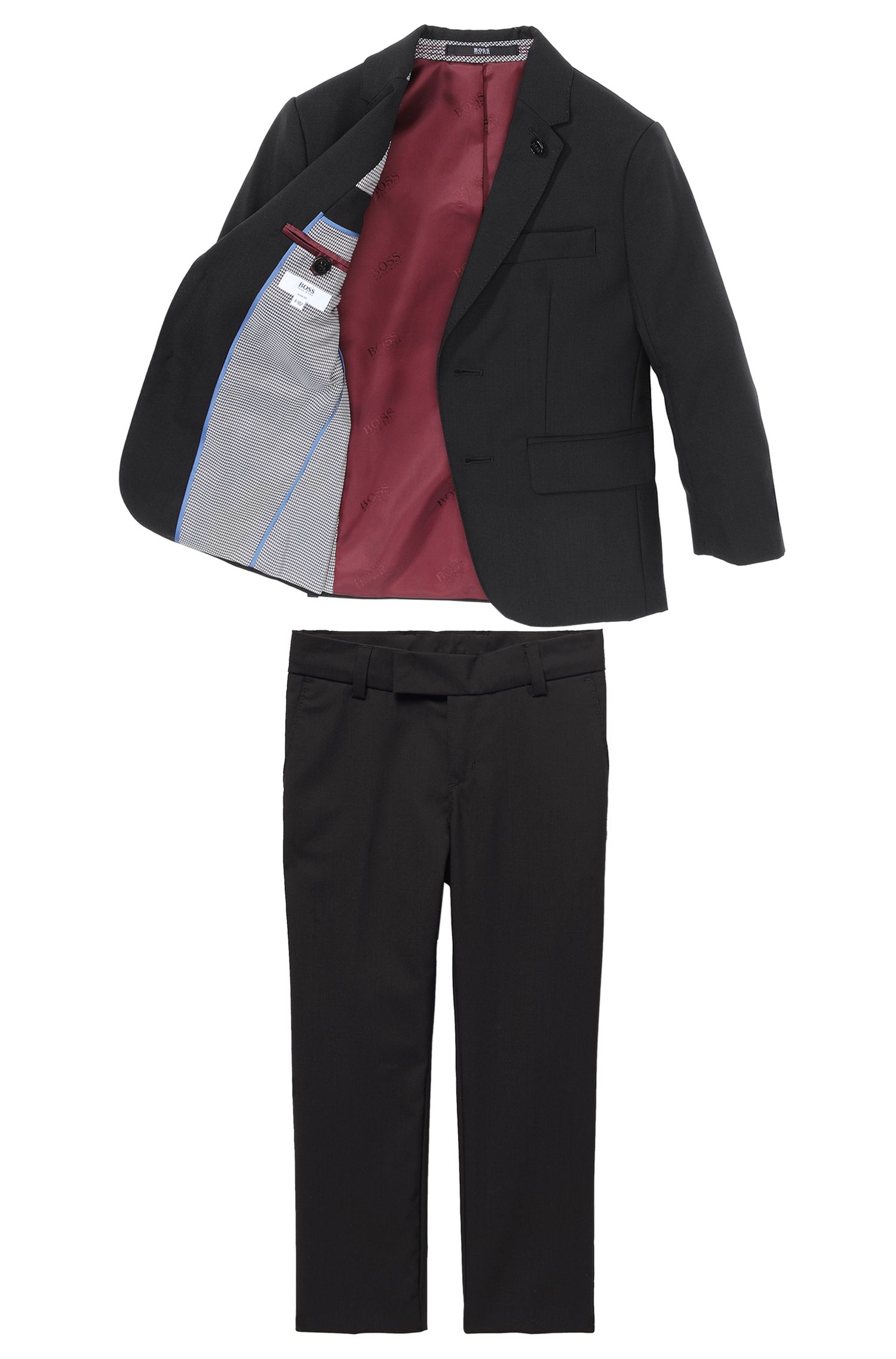 'J24292' | Boys Wool Suit Pants