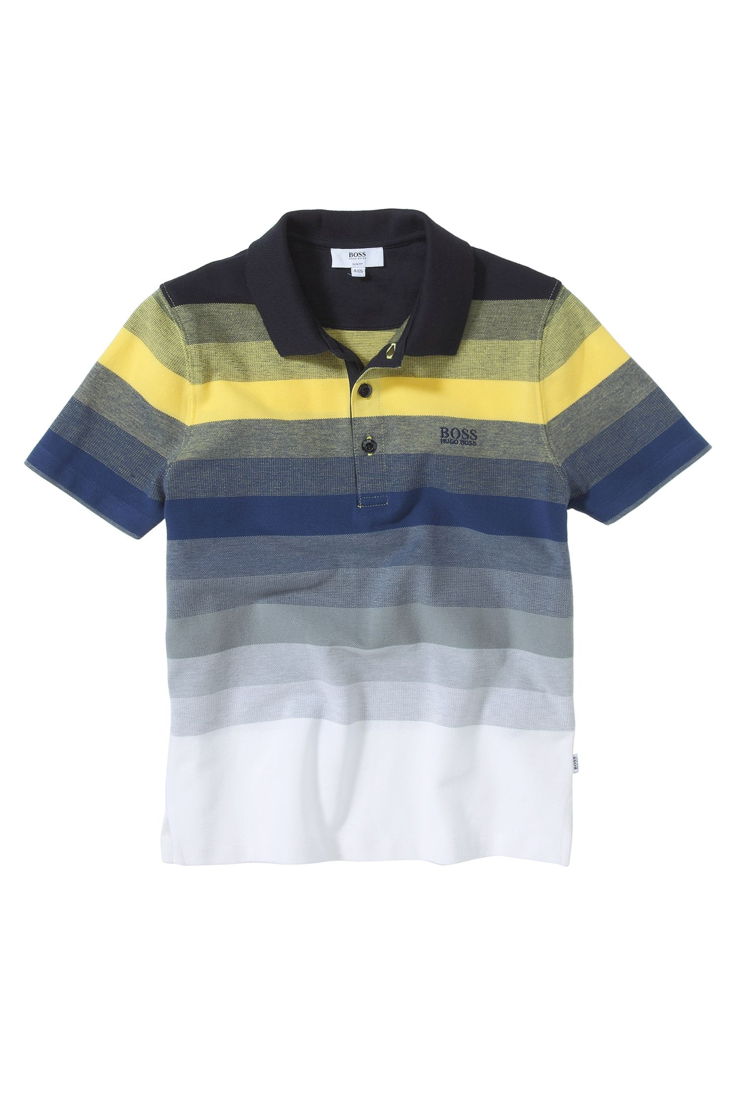 'J25636' | Boys Cotton Stripe Polo Shirt