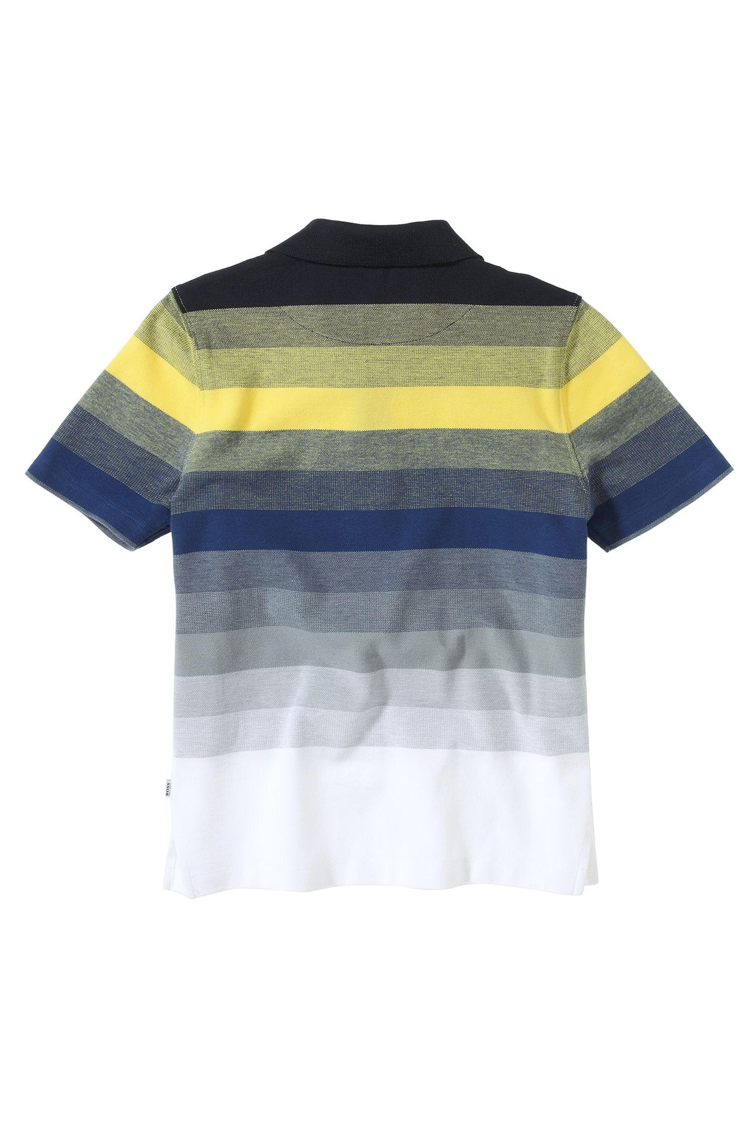 'J25636' | Boys Cotton Stripe Polo Shirt