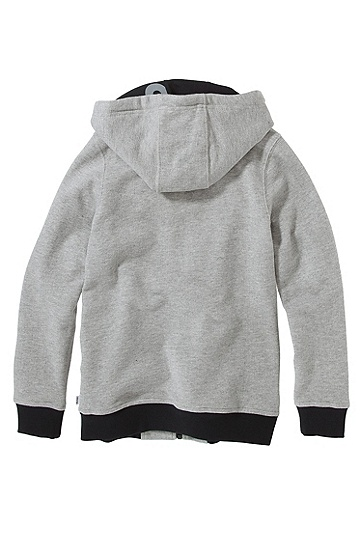 'J25656' | Boys Fleece Hooded Sweatshirt, Grey