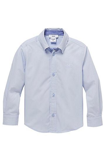 'J25660'   Boys Cotton Button Down Shirt, Light Blue