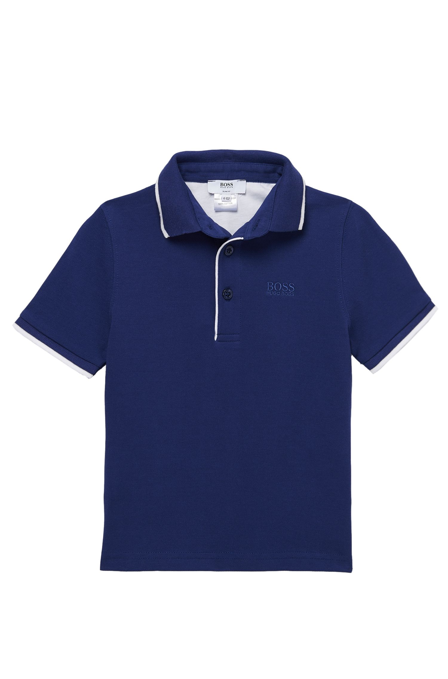 'J25668' | Boys Cotton Pique Polo Shirt