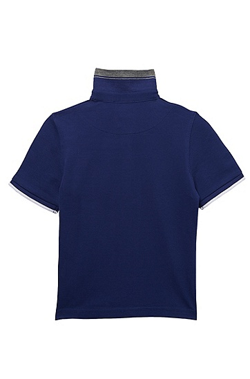 'J25668' | Boys Cotton Pique Polo Shirt, Blue