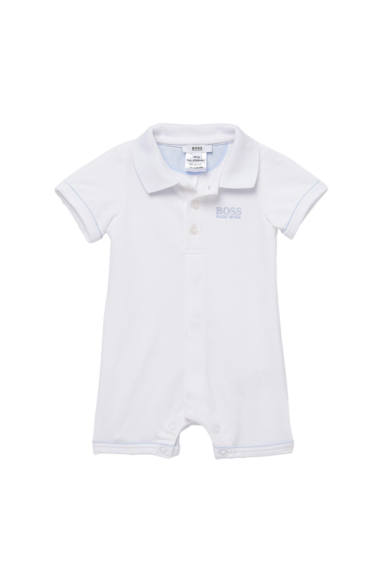 'J94082' | Infant Piqué Cotton Polo Onesie