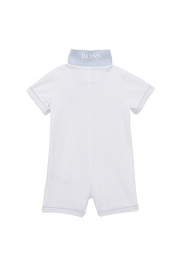 'J94082'   Infant Piqué Cotton Polo Onesie, White