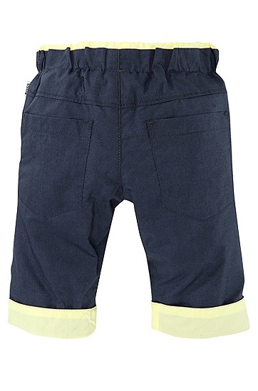 'J94087' | Infant Reversible Cotton Poplin Trousers, Dark Blue