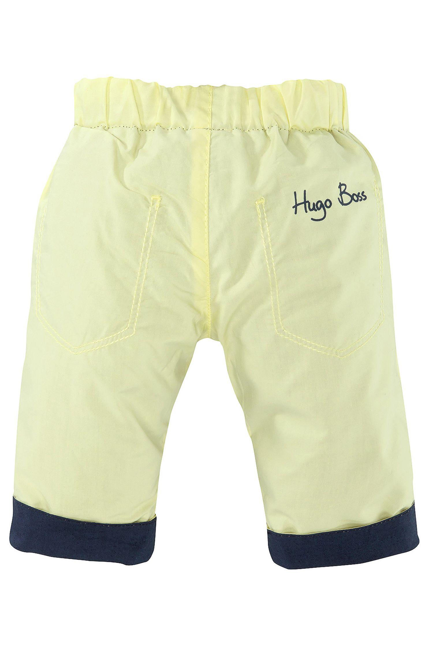 'J94087' | Infant Reversible Cotton Poplin Trousers