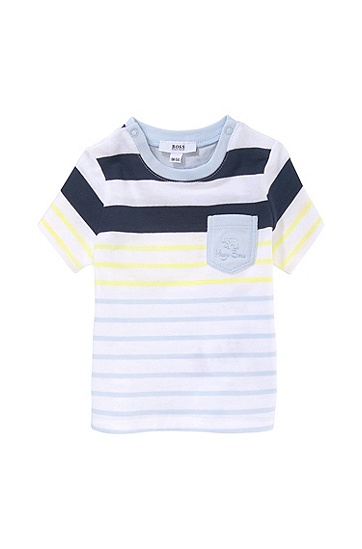 'J95128' | Infant Stripe Cotton Jersey T-Shirt, Patterned