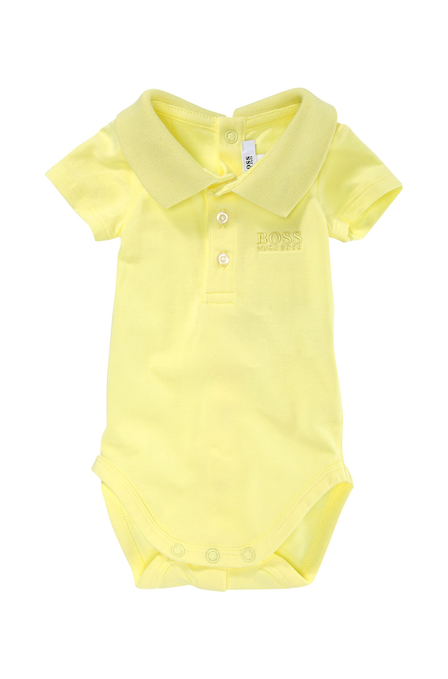'J97066' | Infant Cotton Jersey Polo Onesie
