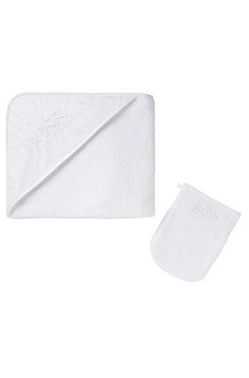 'J98N71' | Infant Terry Bath Towel Gift Set, White